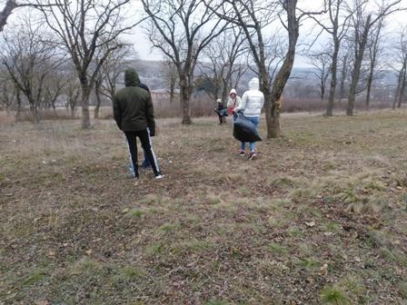 Уборка парка волонтёрами